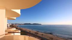Beach of Mediterranean Sea at Cala Millor - Majorca island Stock Footage