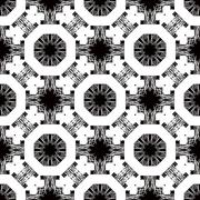 Seamless pattern with white tracery on a black - stock illustration