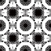 Seamless pattern with white tracery on a black Stock Illustration