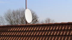 satellite dish on the roof,zoom in, - stock footage