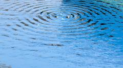 Circular ripples on clear surface of water closeup Stock Illustration