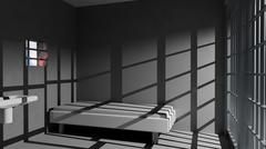 Prison cell Stock Illustration