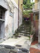 Stone steps in Amalfi, Italy Stock Photos