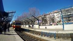 4K Tram. Rail Tram Stock Footage