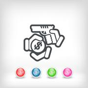 Armed robbery - stock illustration