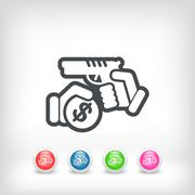 Armed robbery Stock Illustration