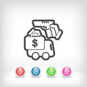 Van robbery - stock illustration