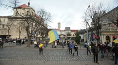 Lviv UKRAINE Stock Footage