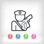 Policeman icon - stock illustration
