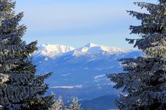 Nice winter scene in Tatra Mountains Stock Photos