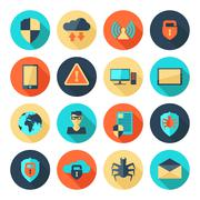 Network Security Icons - stock illustration