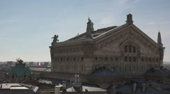 Paris Opera building, roofs of Paris - 1080p Stock Footage