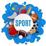 Sport Equipment Concept - stock illustration