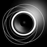 Black speaker closeup background - stock illustration