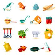 Cooking Icons Set - stock illustration
