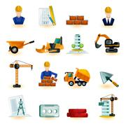 Architect Icons Set Stock Illustration