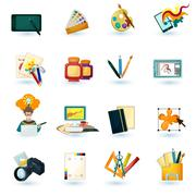 Designer Icons Set Stock Illustration