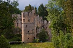 castle beaufort,luxembourg - stock photo