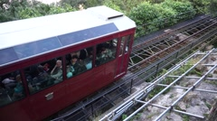 Peak Tram, Victoria Peak Stock Footage