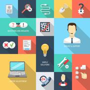 Stock Illustration of Support Icons Flat