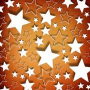 Stars on vintage grunge background/ - stock illustration