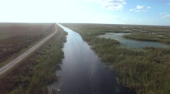 Aerial Running Down The River in the Everglades 2 Stock Footage