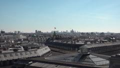 Famous Roofs of Paris, slow pan movement - 60fps Stock Footage