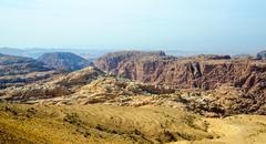 The mountainous terrain in Jordan Stock Photos