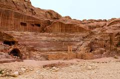Jordan, Petra, amphitheater Stock Photos