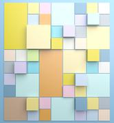 Square background with pastel colors - stock illustration