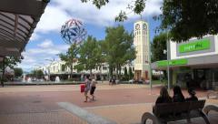 Hastings town centre, New Zealand, pedestrianised area Stock Footage