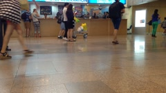 Busy Don Mueang International Airport, Bangkok Thailand. Stock Footage