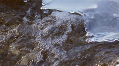 Water Flow and Ice Stock Footage