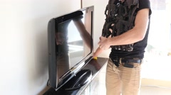 4K Student cleaning his room - stock footage