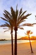 Stock Photo of Alcudia Majorca at sunset on the beach Mallorca