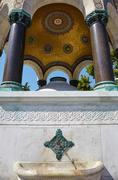 The marble arches of German Fountain, Istanbul - stock photo