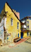 The old house on the residential street in the Eminonu district of Istanbul Stock Photos