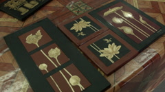 A shot of wood artwork in a workshop in Siem Reap Cambodia - stock footage