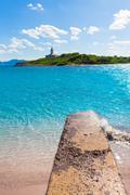 Platja de Alcudia Aucanada beach in Mallorca Stock Photos