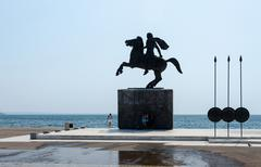 Greece, Thessaloniki. Monument to Alexander the Great - stock photo