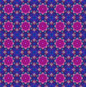 Blue and pink ethnic pattern. Stock Photos