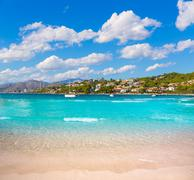 Platja de Alcudia Auanada beach in Mallorca - stock photo
