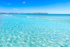 Stock Photo of Mallorca Can Picafort beach in alcudia bay Majorca