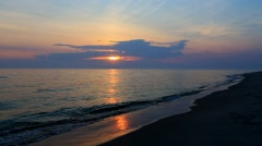 Sunset and Waves Stock Footage