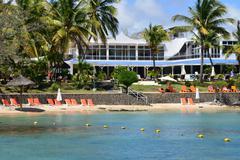 picturesque area of  La Pointe aux Canonniers in Mauritius Repu - stock photo
