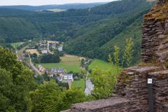 castle bourscheid, luxembourg - stock photo