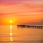 Stock Photo of Majorca Muro beach sunrise Alcudia Bay Mallorca