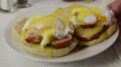 Eggs Benedict Stock Footage