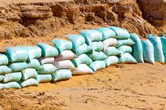 Flood protection - stock photo