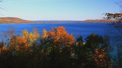 Glen Lake at Sleeping Bear Dunes Stock Footage